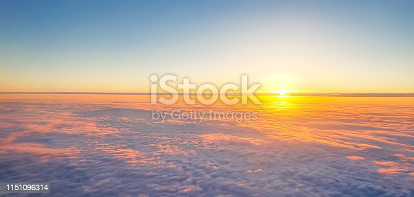 1045890176 istock photo Sunset above clouds 1151096314