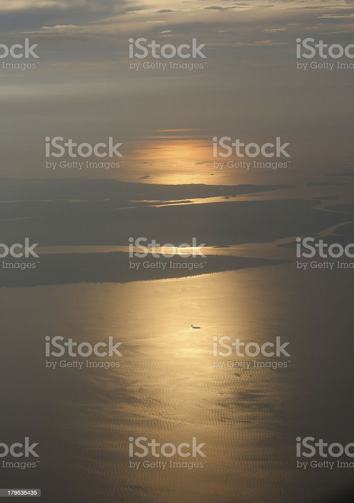 Sunset above the clouds royalty-free stock photo