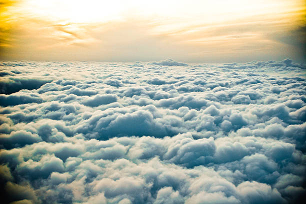 Sunset Above The Clouds stock photo