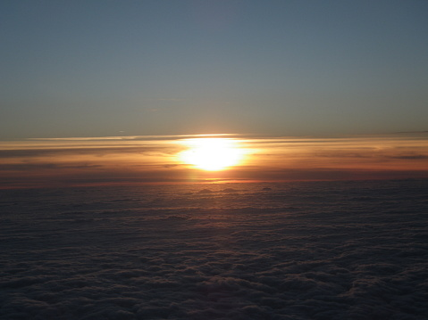 Sunset Above The Clouds Stock Photo - Download Image Now