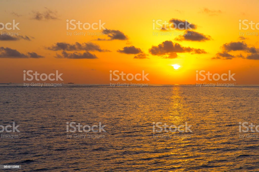 sunset above the sea royalty-free stock photo