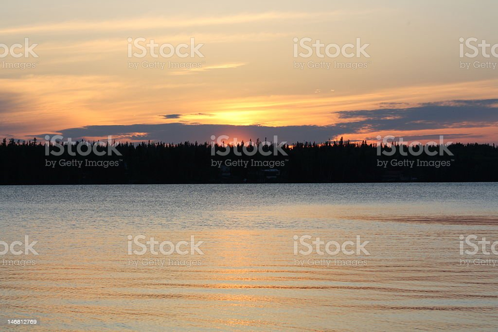 Sunset Across the Water royalty-free stock photo