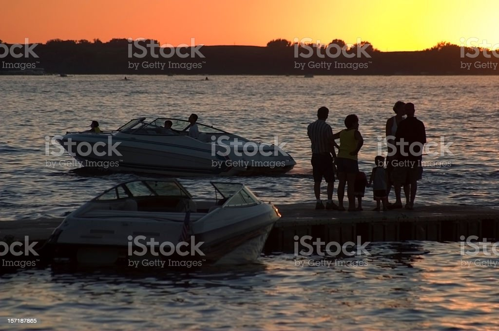 Sunset Action stock photo