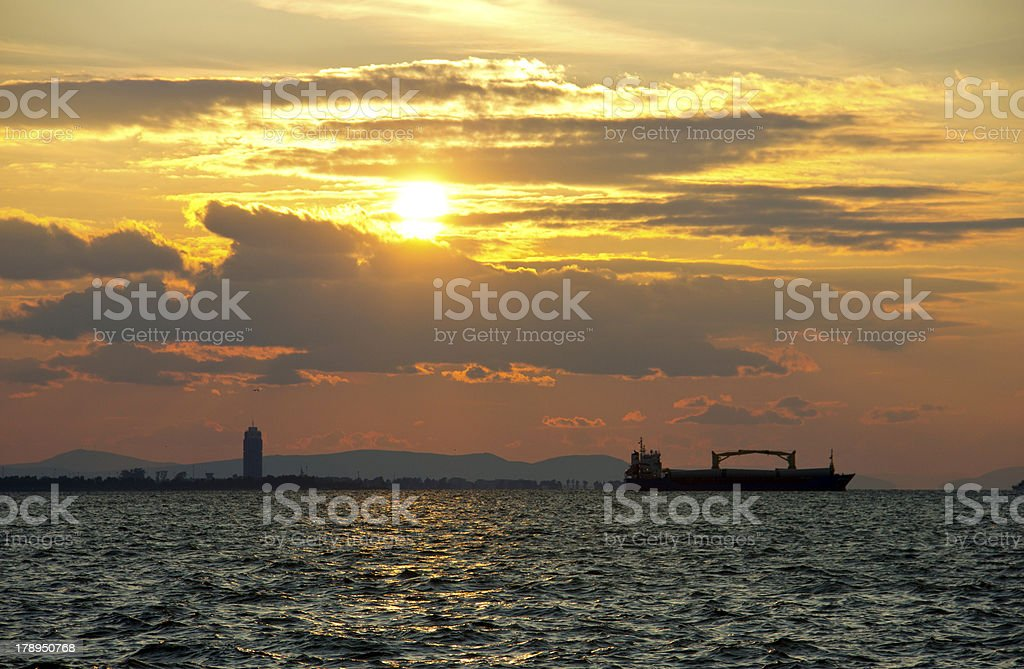 sunset - aegean sea royalty-free stock photo