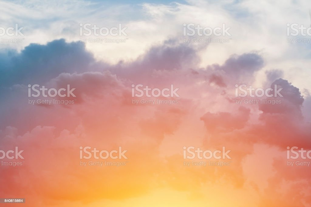 Sunset after storm clouds royalty-free stock photo