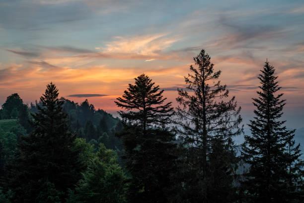 Sonnenuntergang Ahornalp – Foto