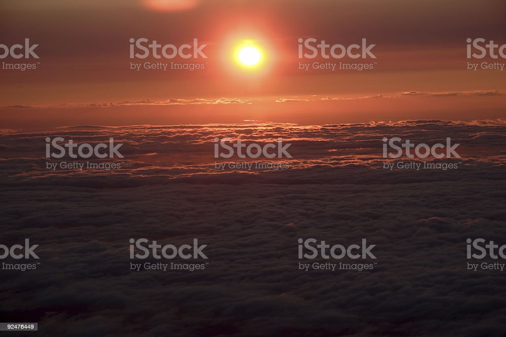 areo sunset royalty-free stock photo