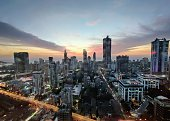 istock Sunset amidst Sprawling skyscrapers of Mumbai 1214716068