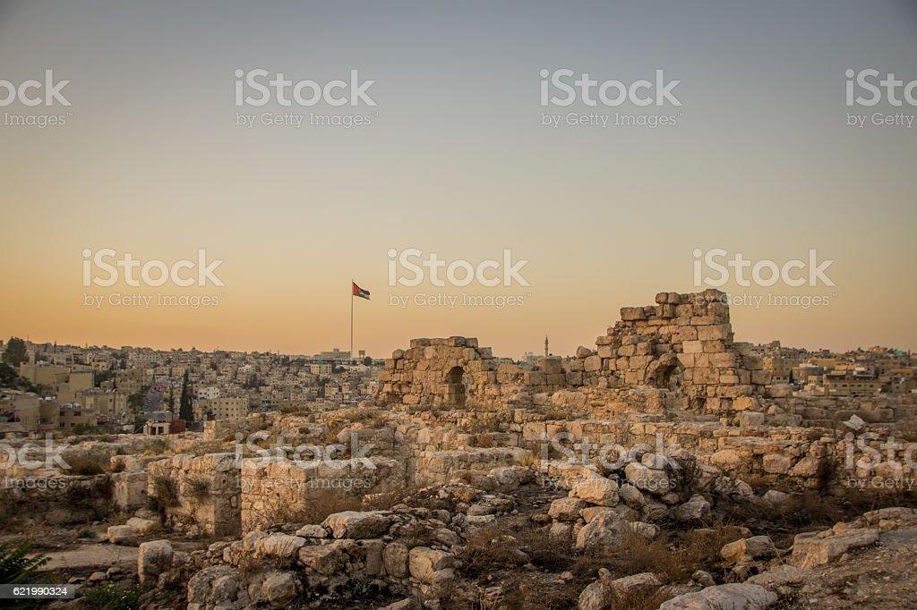 Sunset Amman Citadel Jordan – Foto