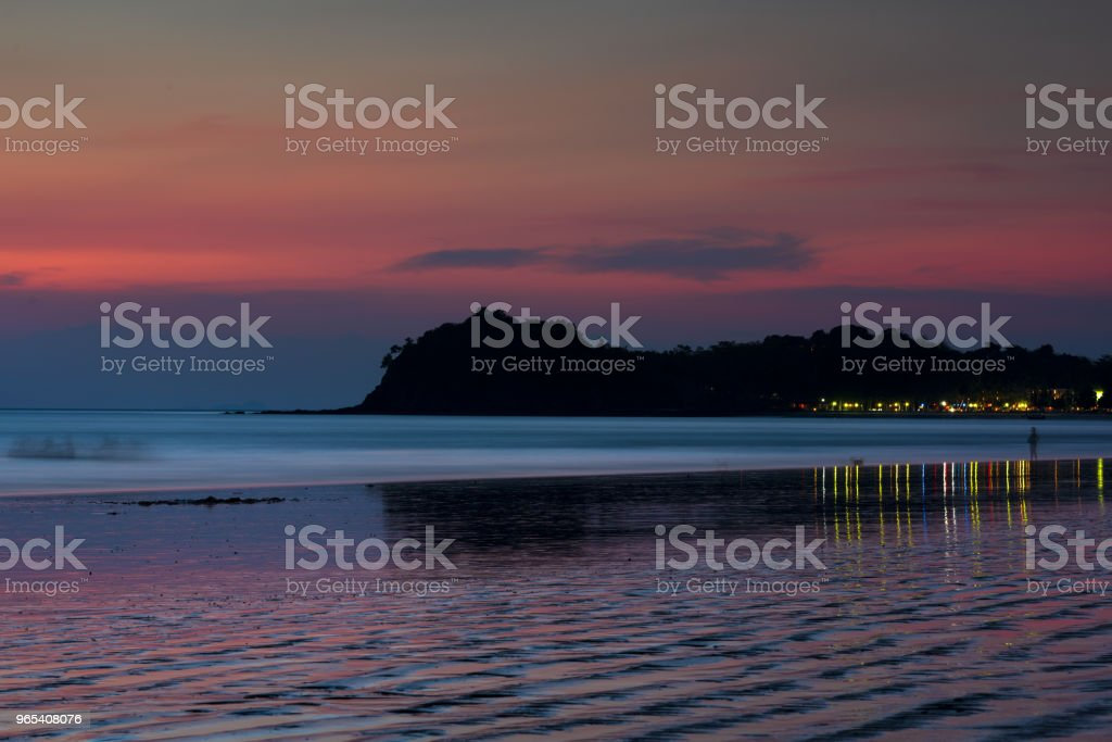 Sunset and beach royalty-free stock photo
