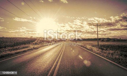 Empty road, Cloud - Sky, Textured, Dawn, Dusk