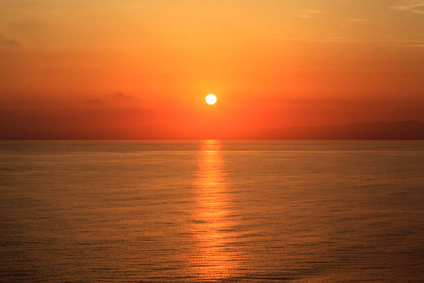 Sunset and Ocean. stock photo
