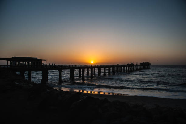 Sunset and Pier stock photo