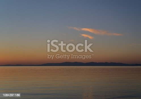 istock Sunset and sea. 1084391186