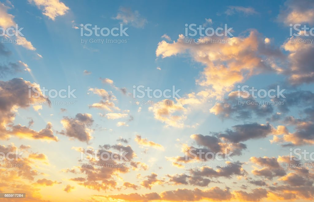 Sunset and sky foto stock royalty-free