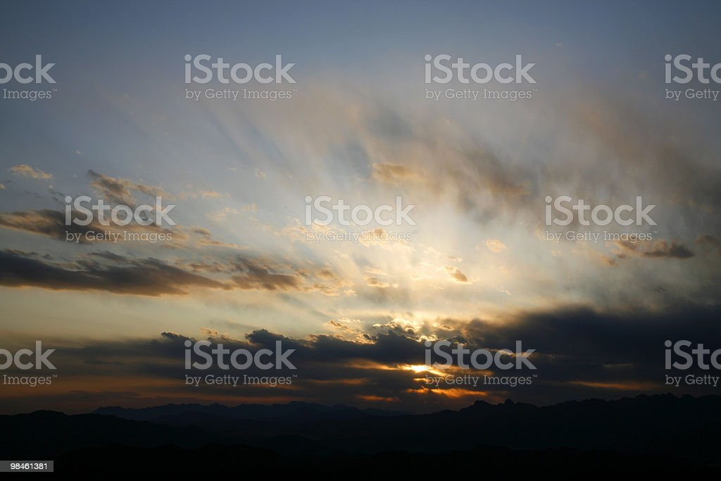 sunset and sunrise royalty-free stock photo