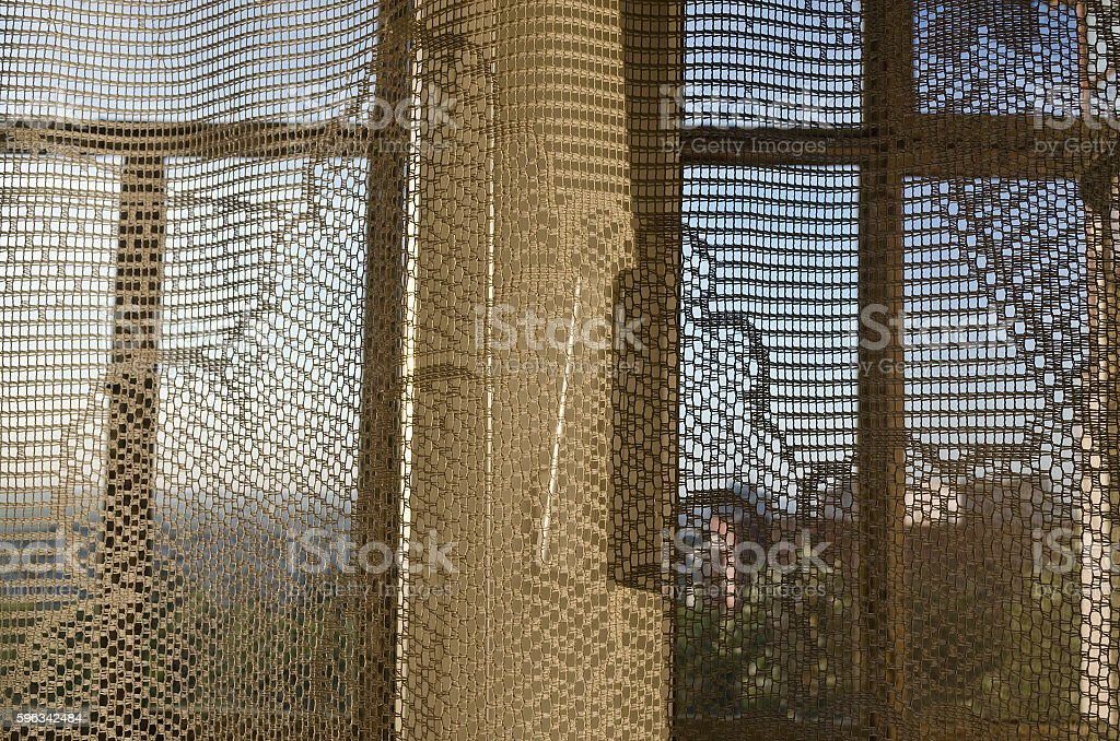 Sunset and window with curtains evening light abstract background Lizenzfreies stock-foto