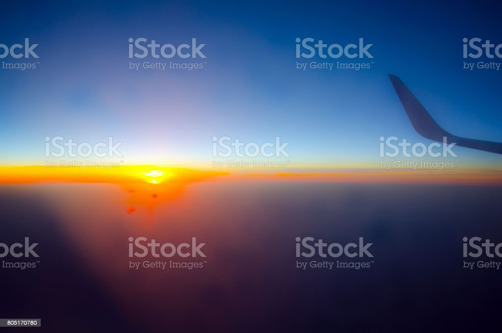 Sunset and winglet stock photo