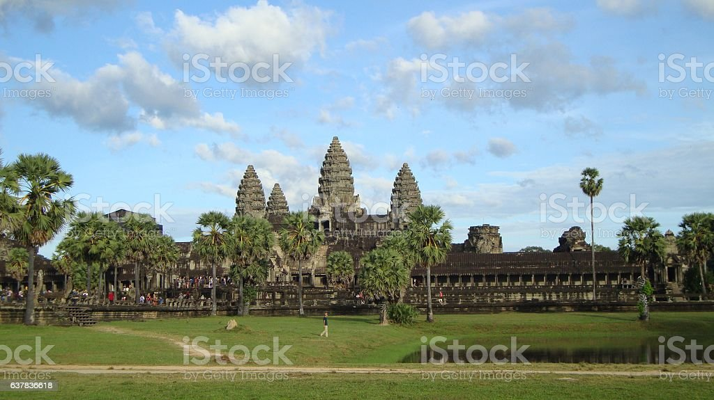 Sunset Angkor Wat Temple - Siem Reap, Cambodia, Camboya stock photo
