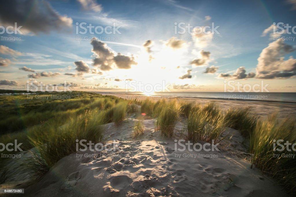 Sonnenuntergang in Ameland, Niederlande – Foto