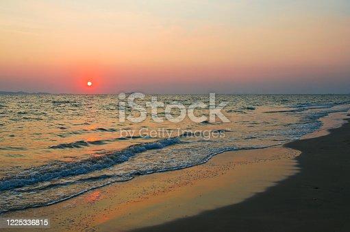 Beautiful beach and Andaman sea in Koh Jum island, Krabi province, Thailand.