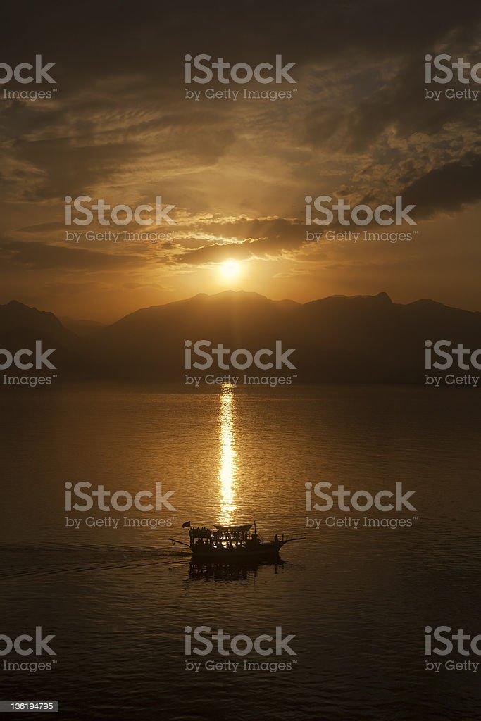Sunset at Antalya - Turkey royalty-free stock photo