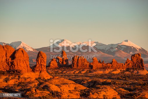 istock Sunset at Arches National Park. 1232921671
