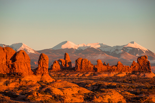 Scenic photo of Arches National park near Moab.