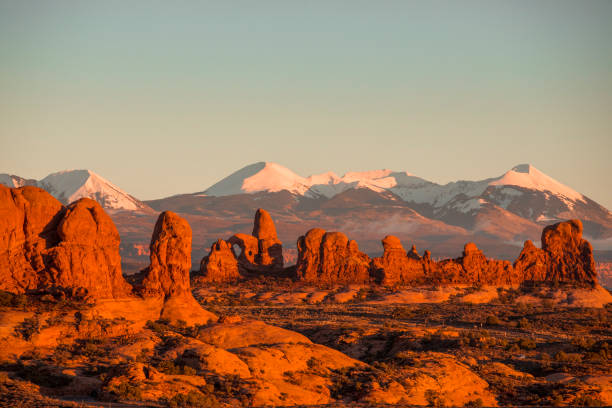 Sunset at Arches National Park.