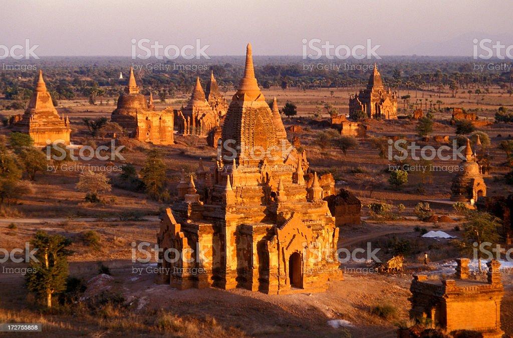 Sunset at Bagan royalty-free stock photo