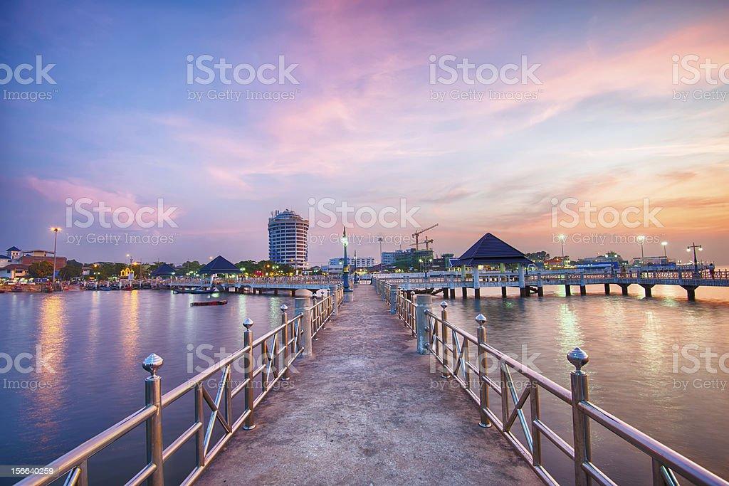 sunset at Bang-Sean, Thailand royalty-free stock photo