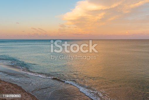 Sunset at Deerfield Beach shore