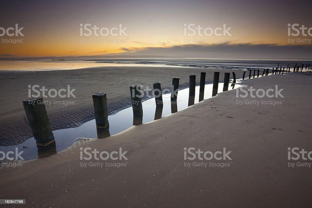 Sunset at Berrow stock photo