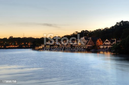 Boathouse Row is a historic site in Philadelphia on the east bank of the Schuylkill River (National Register of Historic Places from 1987)