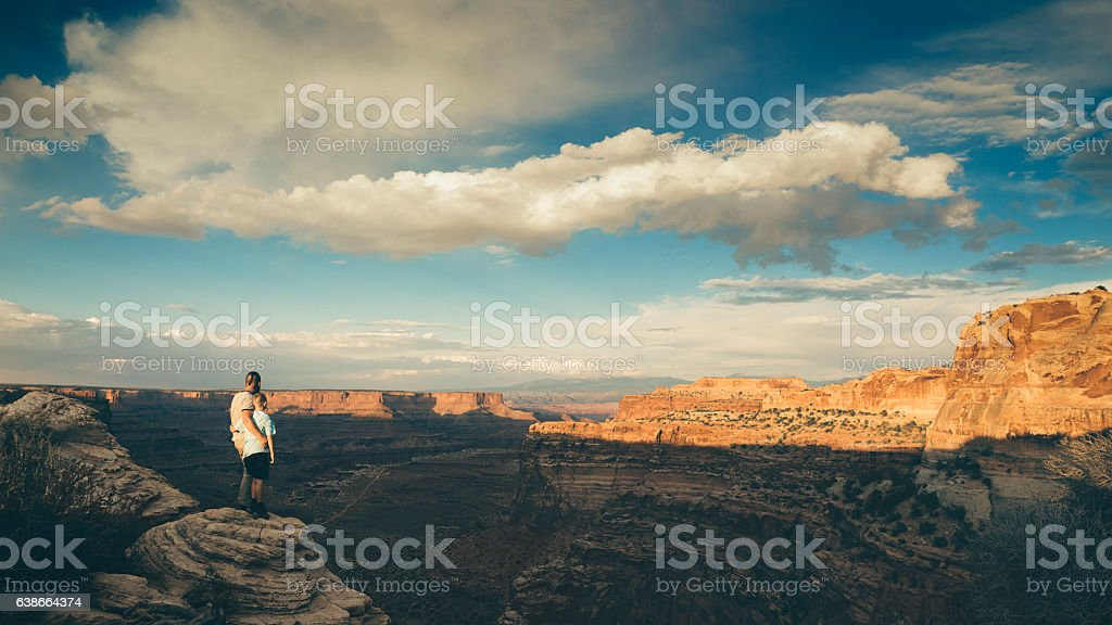 Sunset at Canyonlands stock photo