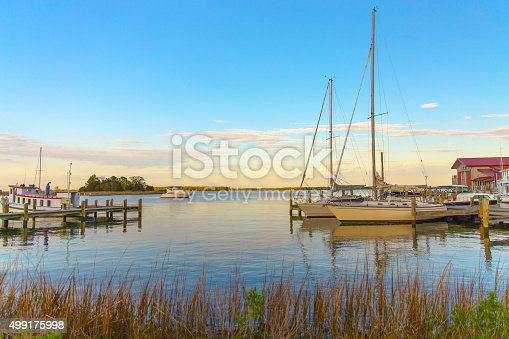 istock Sunset at Chesapeake Martime Museum in St Michaels Maryland 499175998