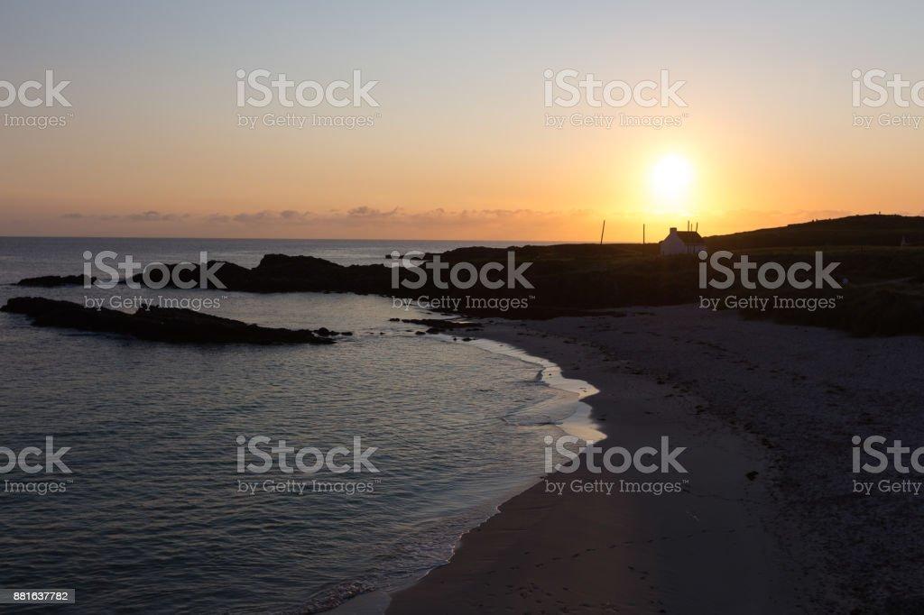 Sonnenuntergang am Clachtoll Beach – Foto