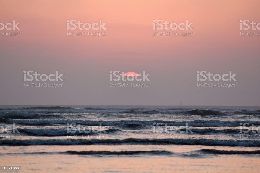 Sunset at Clifton Beach, Karachi, Pakistan stock photo