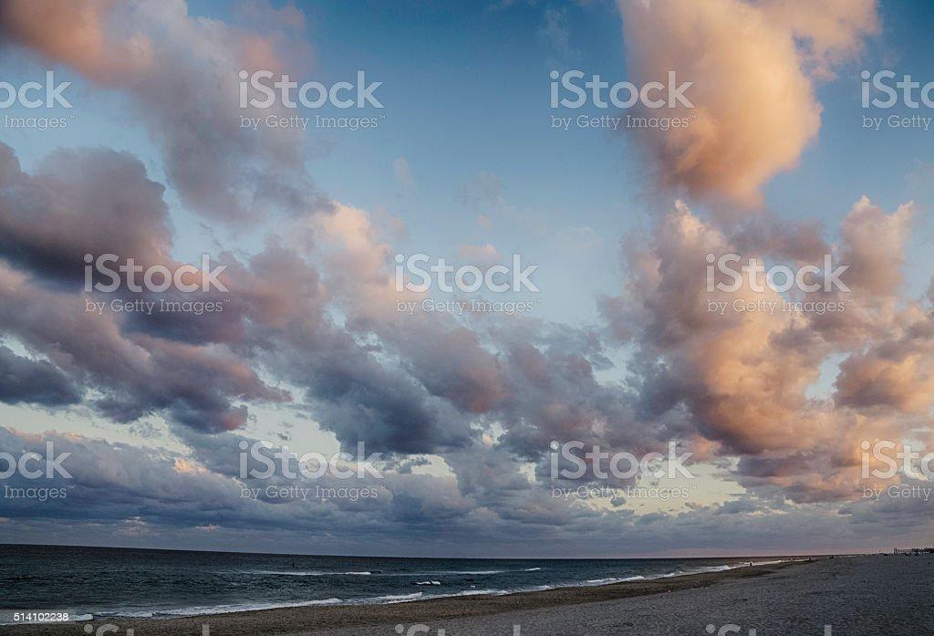 Sunset at Delray Beach stock photo