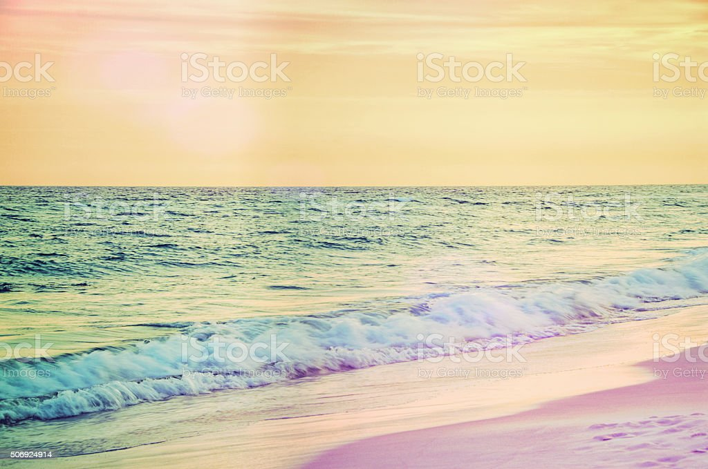 Sunset at Destin Beach Florida USA stock photo