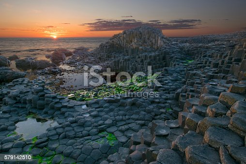 istock Sunset at Giant Causeway 579142510