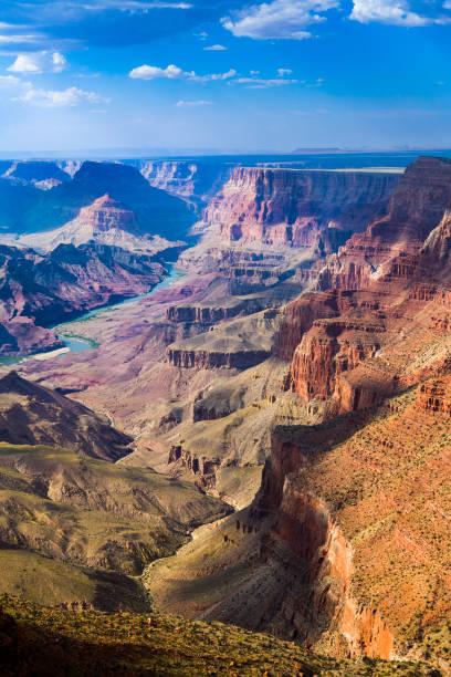 sonnenuntergang am grand canyon in arizona - grand canyon nationalpark stock-fotos und bilder