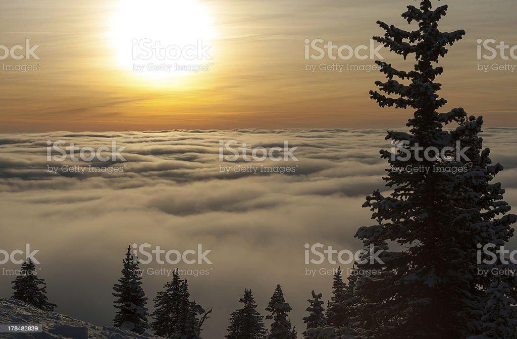 Sunset At Grand Targhee stock photo