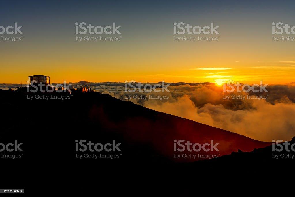 Sunset at Haleakala National Park Maui Hawaii USA stock photo