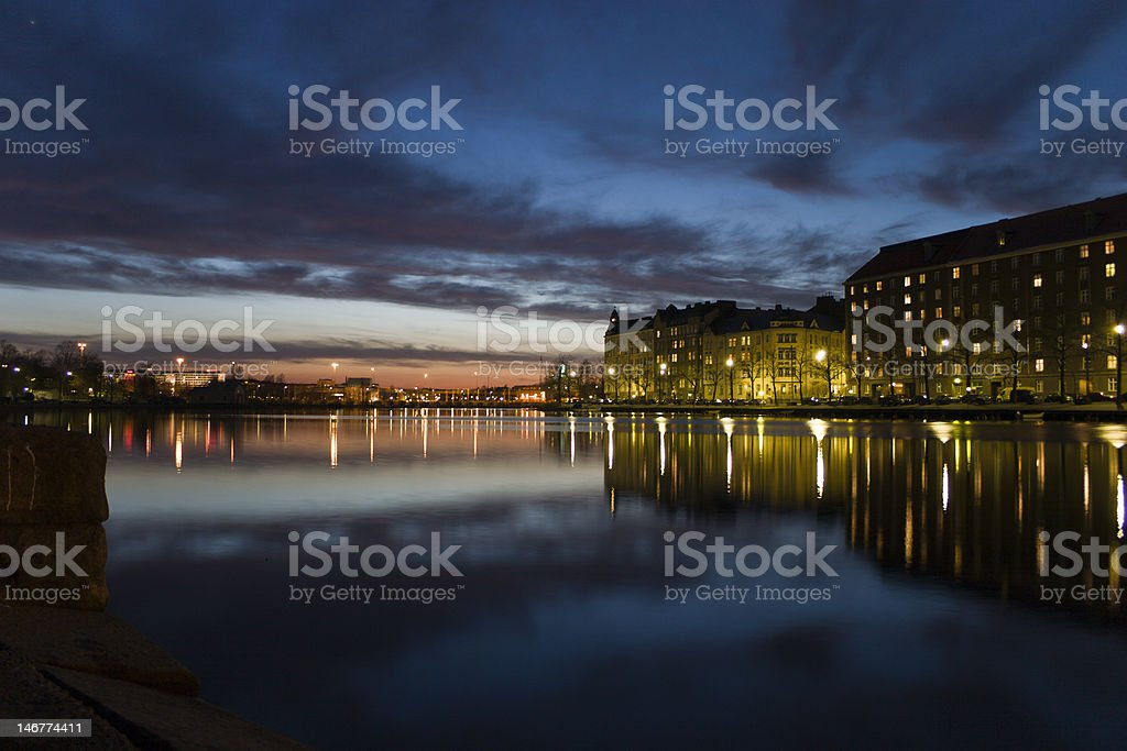 Sunset at Helsinki royalty-free stock photo