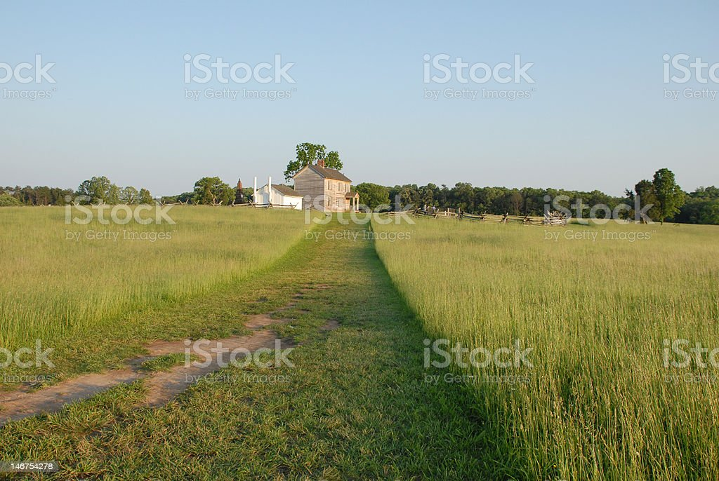 Sunset at Henry Hill stock photo