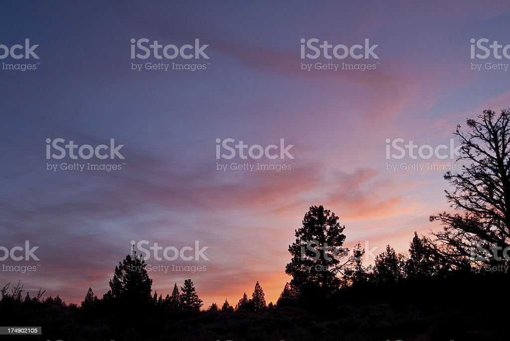 Sunset at Indian Wells stock photo