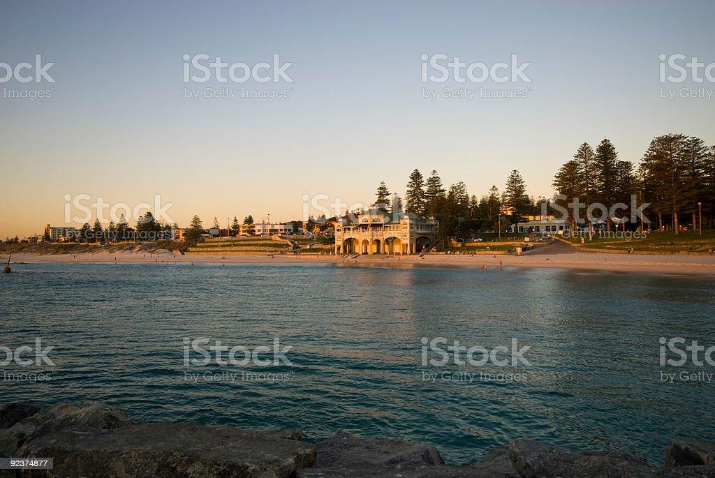 sunset at Indiana Tea House Cottesloe Beach royalty-free stock photo