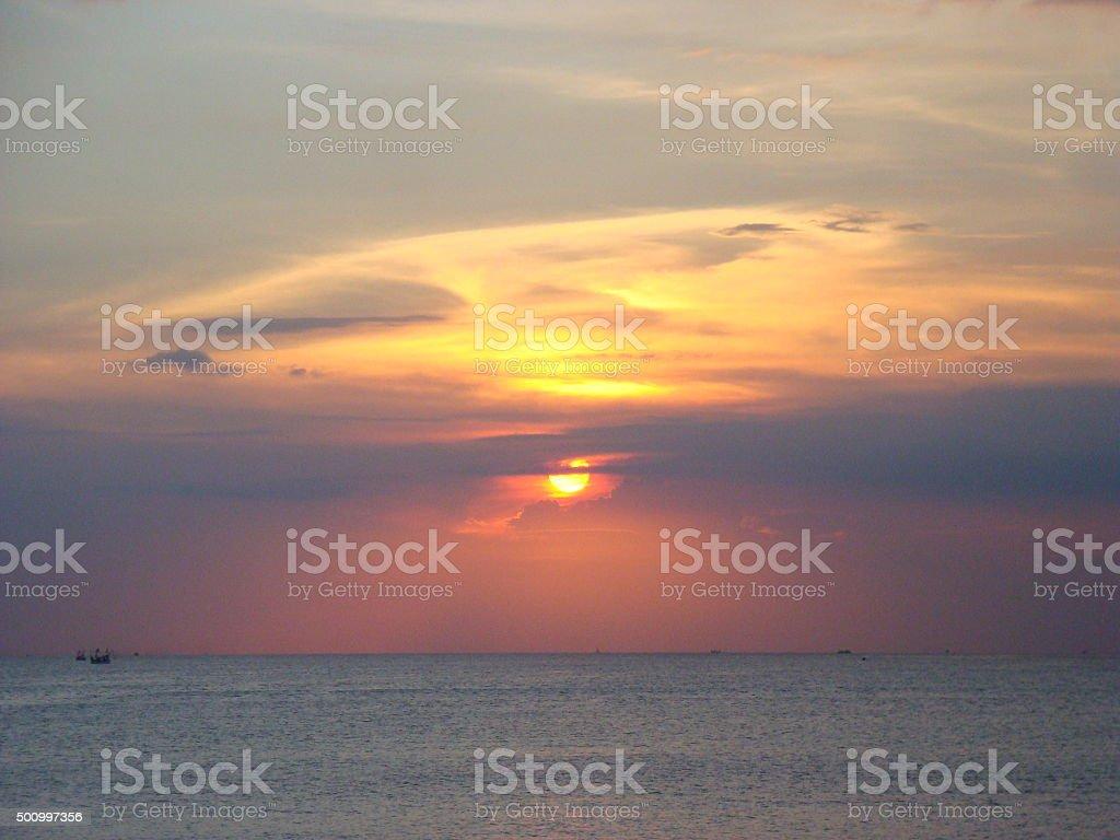 Sunset At Jimbaran Bay stock photo