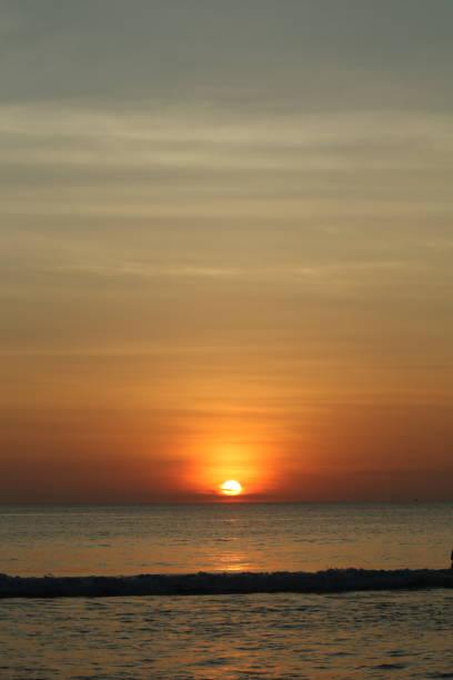 Sunset at Karon Beach - Phuket Thailand stock photo